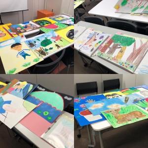 【画像】児童養護施設向け絵画コンクール_応募作品到着_2019年度