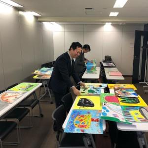 【画像】絵画コンクール‗2018年度_審査中